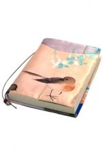 和柄ブックカバー 文庫版 『四季花鳥図』