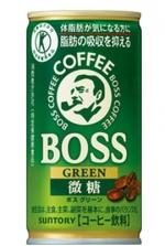 BOSSグリーン微糖 6缶